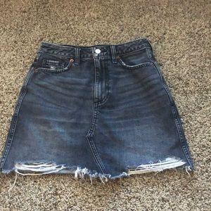 Abercrombie high waisted denim mini skirt size 25